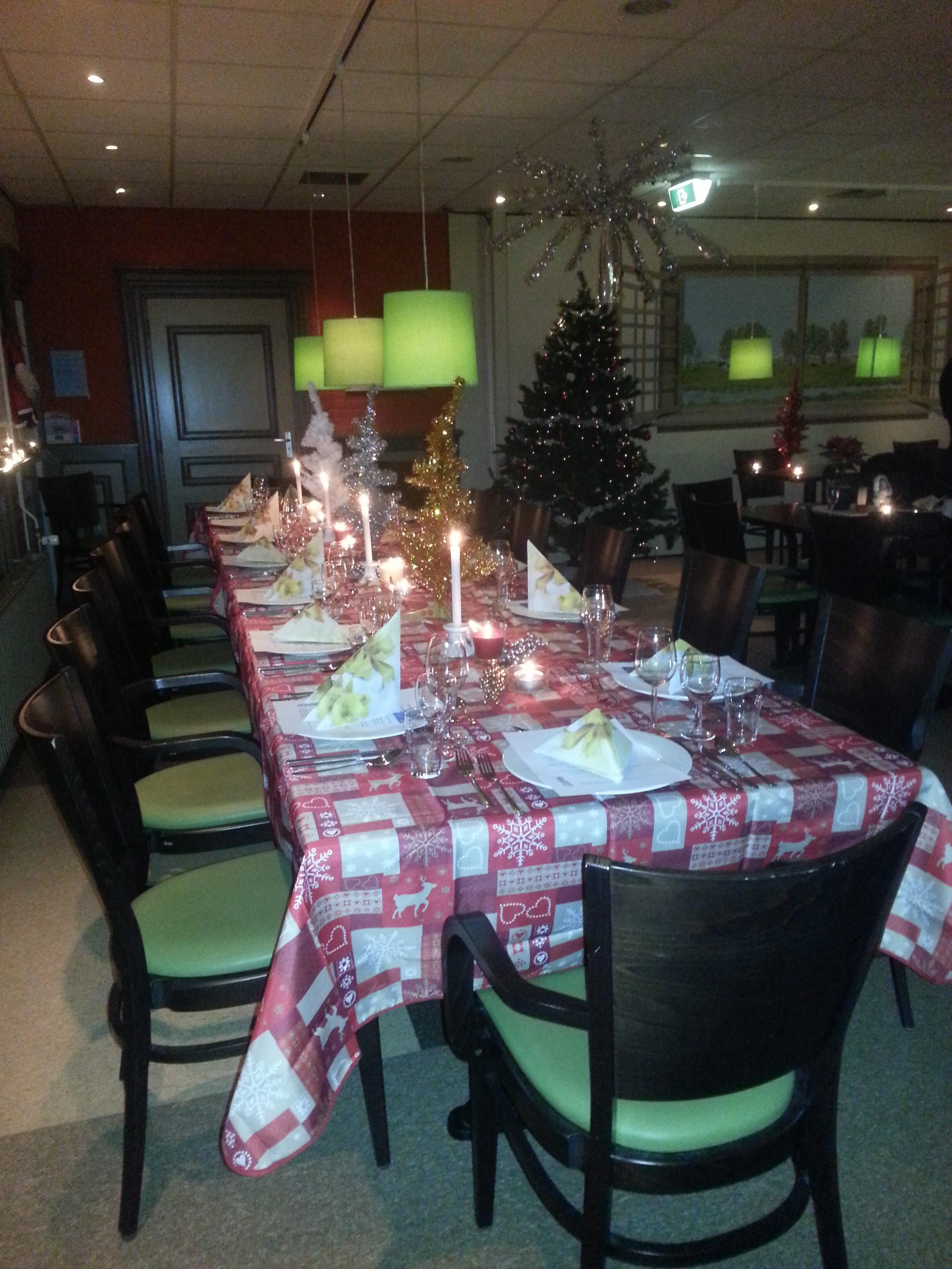 Diner in de ontmoetingsruimte